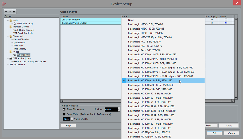 Video Support in legacy Nuendo and Cubase versions