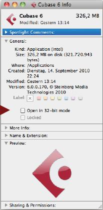 Mac OS X 64-bit Support – Steinberg Support